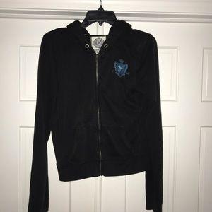 👑4 for $25👑 PINK by VS black zip-up hoodie